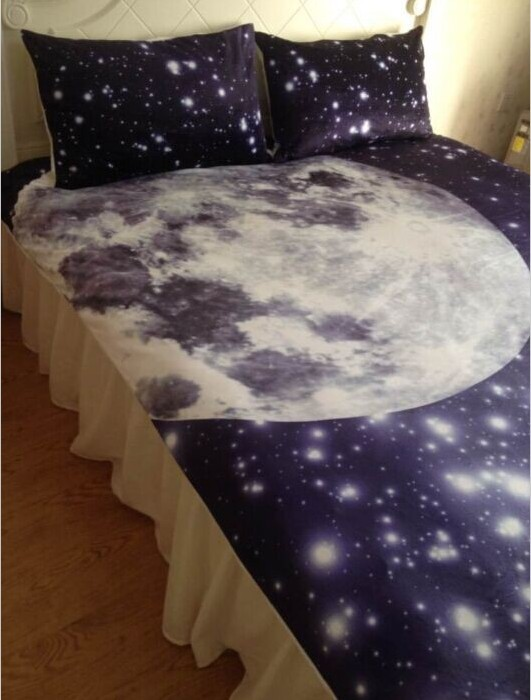 Aliexpress Com Buy Moon And Stars Bedding Comforter Set