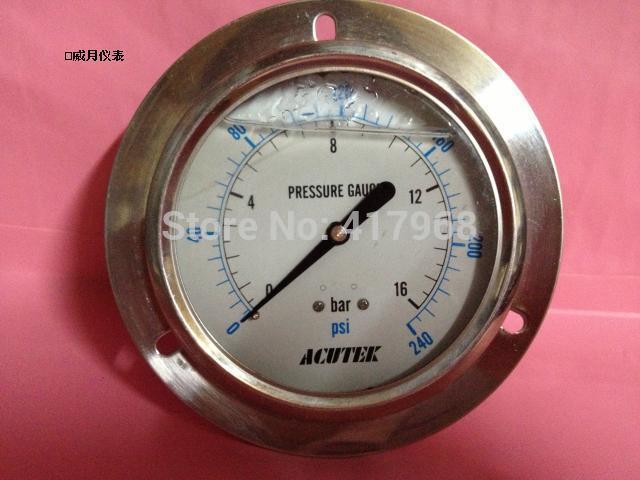 ACUETK original Axial to edge Shock-resistan pressure gauge YN100ZT 16bar G1/2B(full specifications)