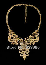 2015 Designer Jewelry Hot Selling Elegant Hollow Metal Pendant Necklace
