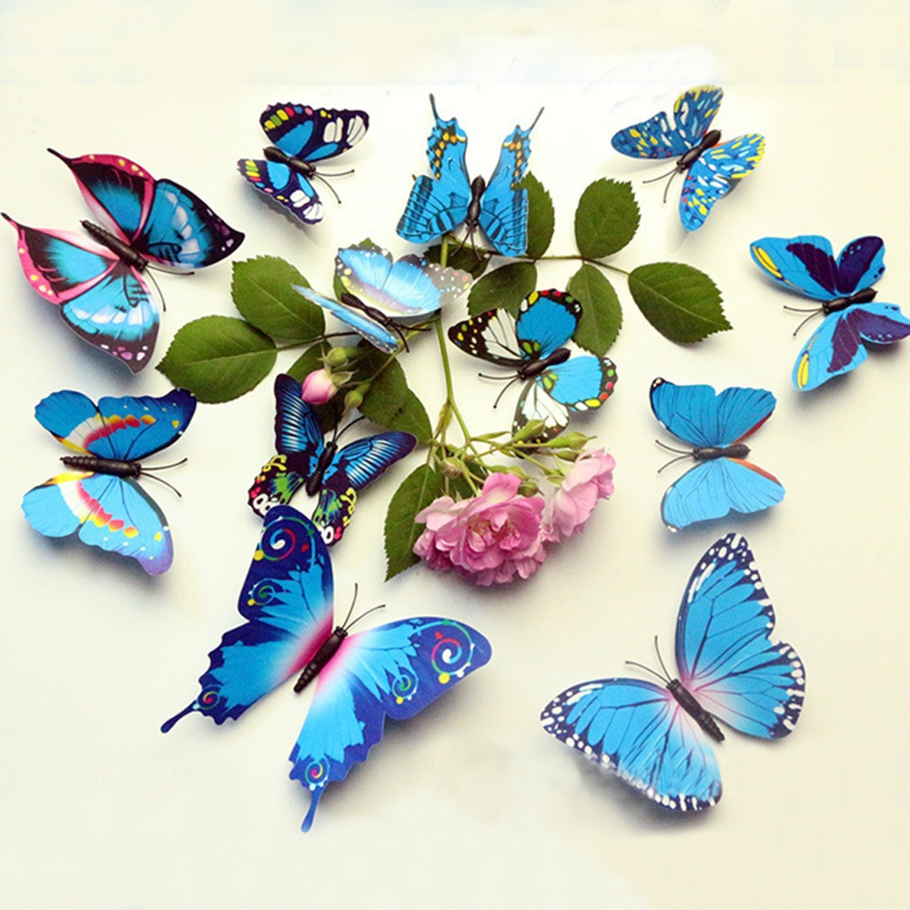 Butterfly wall decor for 3d butterfly decoration