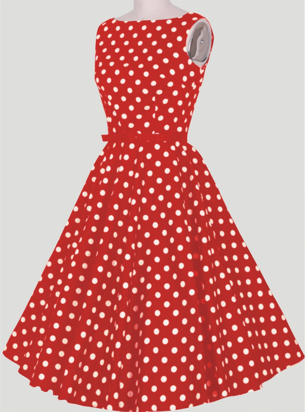 2015 summer casual dress brief red white polka dots vintage style party dress womens dress fast delivery drop shipping in stock(China (Mainland))