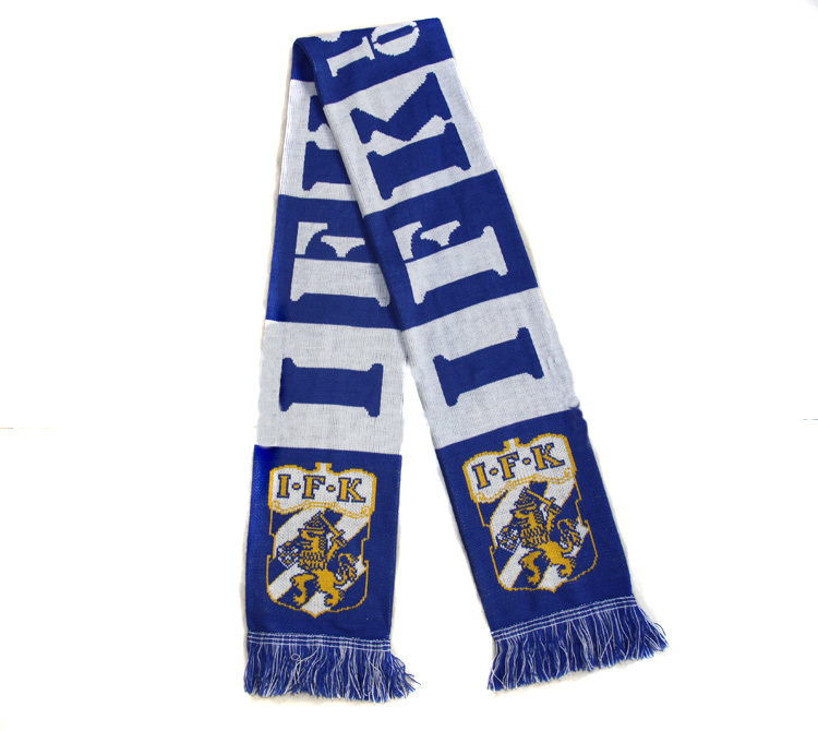 2014 New Arrival Unisex Kintted Acrylic Swedish IFK Goteborg Football Team Winter Fans Scarves Passion Soccer Team Scarves(China (Mainland))