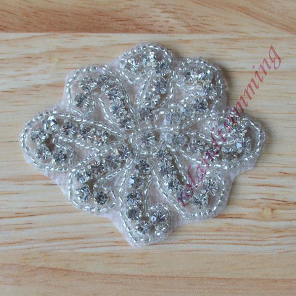 free shipping 2016 new bridal crystal rhinestone beaded applique patch motif ra26(China (Mainland))