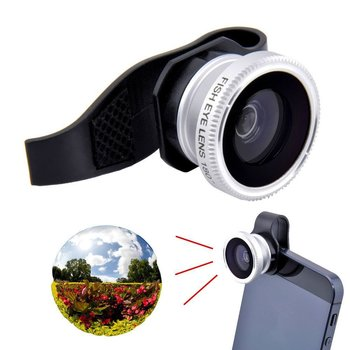 1 set 3 in 1 Universal Clip Lens Fish Eye + Macro + Wide Angle Lens for iPhone 4 5 6 6 PLUS/iPad and iPad Mini  CL-15-16