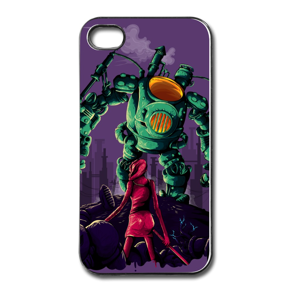 Cool Customize Case For Iphone 4 facing the bossbot Make Own Covers For Iphone 4 Plastic Cover(China (Mainland))