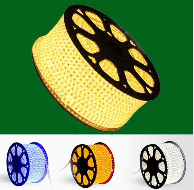 1m 60 LEDs SMD 5050 led strip flexible light 220v waterproof LED strip white/warm white/blue/yellow/red/green led strip(China (Mainland))