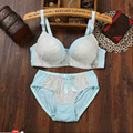 Gather 3 4 cups solid color comfortable rimless girls small breast bra bra cotton high school