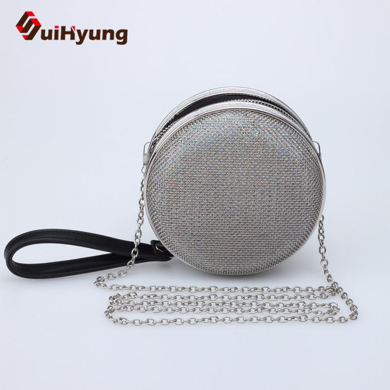New Women Handbag Fashion Design Mini Totes Alloy Mesh Hollow Ball Day Clutch Bag Girls Party Evening Bag With Long Chain(China (Mainland))