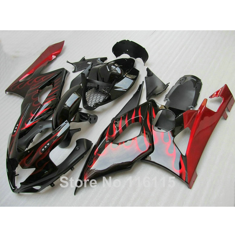 100% new fairing kit fit for SUZUKI Injection molding K5 K6 GSXR 1000 2005 2006 red flames black fairings GSXR1000 05 06 UG29(China (Mainland))