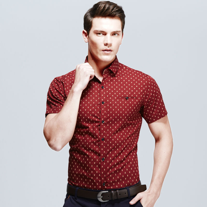 Mens short sleeve casual dress shirts artee shirt for Men s fashion short sleeve shirts