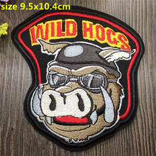 Iron on 5 pcs Indian Wild Hogs Embroidered patch Motif Applique garment embroidery cartoon patch DIY accessory(China (Mainland))