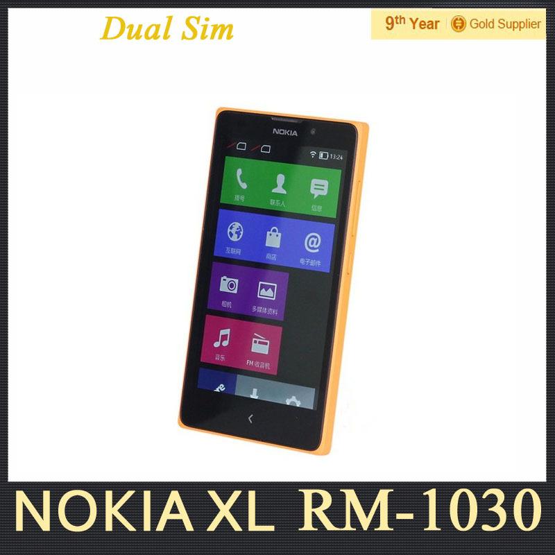 "Dual Sim Nokia XL 1030 Cell Phone Snapdragon S4 Dual Core 5.0"" inch 5MP Camera 3G WCDMA Android Phone Refurbished Free Shipping(Hong Kong)"