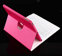 Rotating Wireless Bluetooth Detachable ABS Keyboard Sleep Magnetic Flip pu Leather Stand Cover Case For Apple iPad Mini 1 2 3(China (Mainland))