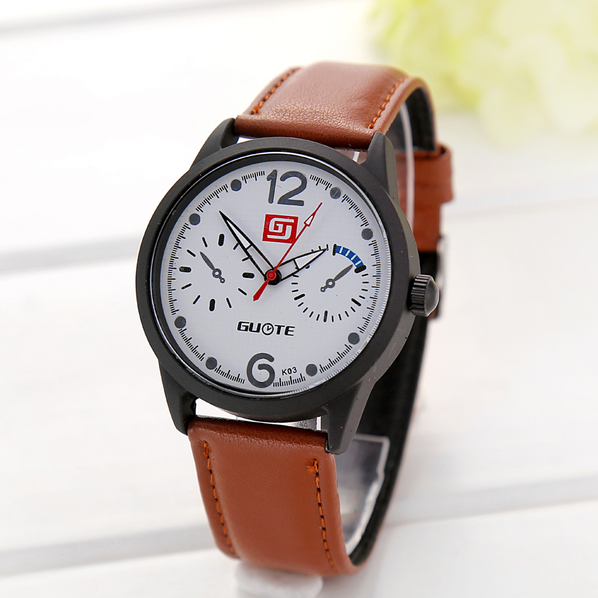 Brand GT Luxury Fashion Clock Women Dress Watch High-grade Leather Quartz Watch Casual Wristwatch Happy gift Relojes Masculino<br><br>Aliexpress