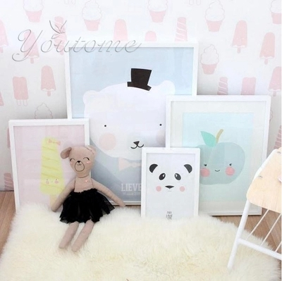 New creative home decor kids room paintings artwork posters and prints picture children's posters on the wall Frame not include(China (Mainland))