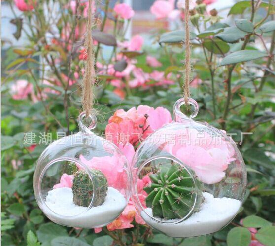 Glass Flower Vase & Round Tabletop Vases Home Decor Wedding Decoration ...