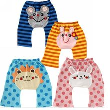 Autumn cartoon style baby trousers big ass pants w898(China (Mainland))