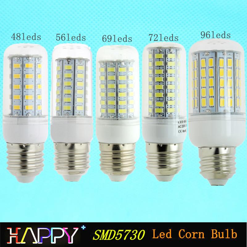 Newest LED Corn Bulb 5730 SMD 7w 11w 12w 15w 18w 20w 25w 30w LED Spotlight E27 E26 E12 E14 B22 GU10 G9 110V 220V 240V Led Lamp(China (Mainland))