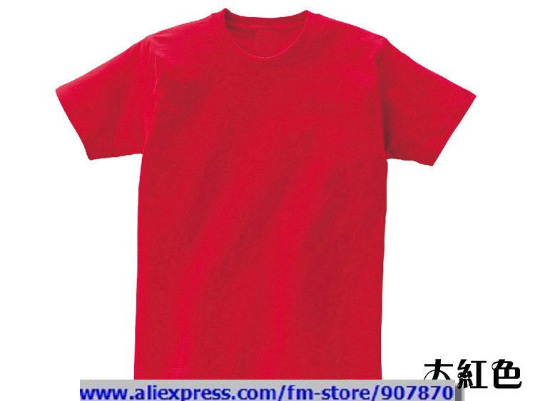 cheap womens mens dark red blank t shirt solid color t