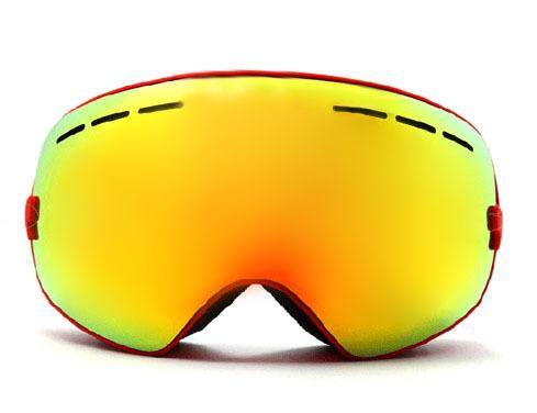 New genuine brand ski goggles double lens anti-fog big spherical professional ski glasses unisex multicolor snow goggles BNCF(China (Mainland))