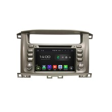 Cortex A9 HD 1024*600 Quad Core 1.6G CPU 16GB Android 5.1.1 Car DVD Player Radio GPS Navi Stereo for Toyota Lander Cruiser 100