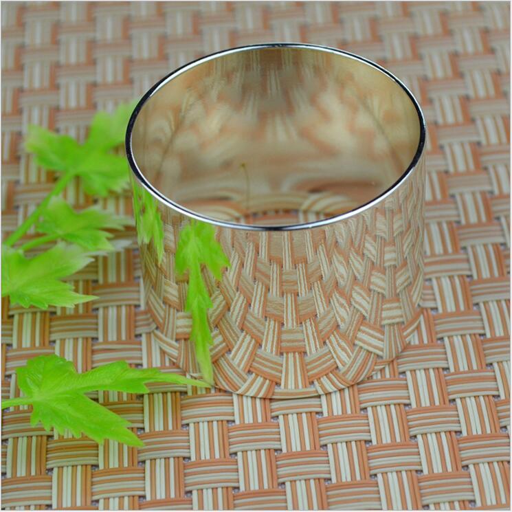 Tangpan 2016Hot Sale Silver Napkin Rings Napkin Holder Wedding Banquet Dinner Decoration
