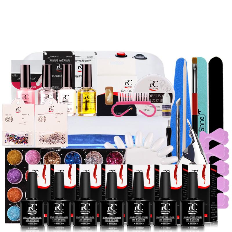 2016 new Professionalsl Hot Sale Perfect Summer Soak-off Gel polish gel nail kit nail art tools sets choose 6 colors or top base(China (Mainland))