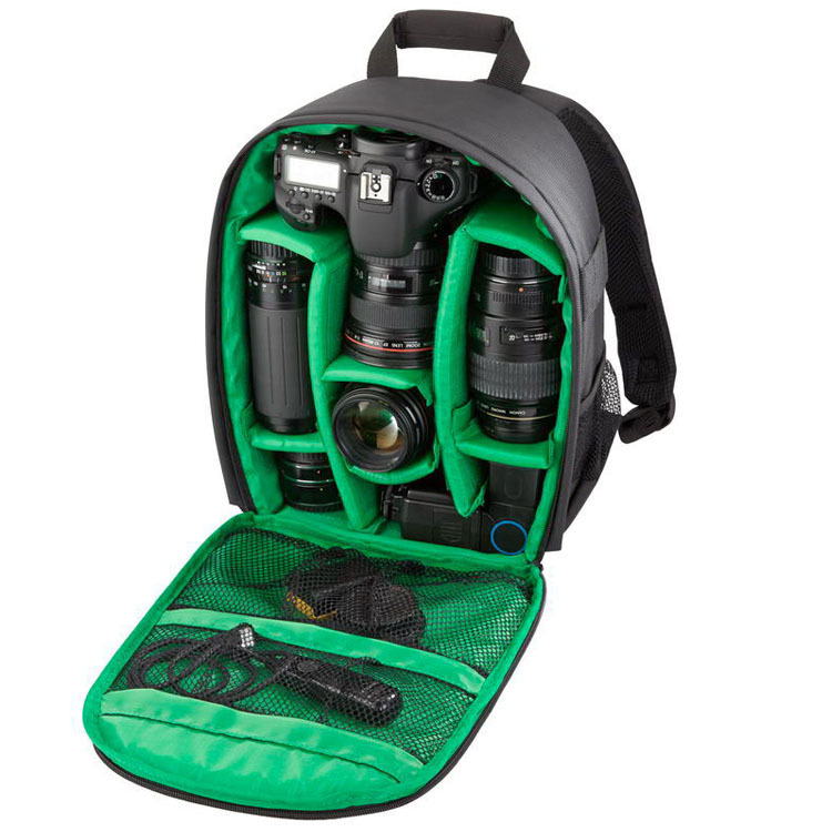 Hot Fashion Waterproof Photo Digital DSLR Camera Bag Brand New Photography Camera Video Bag Small SLR Mochila Camera Backpack(China (Mainland))