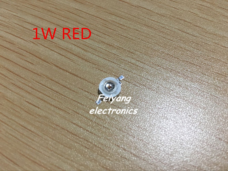 50pcs/lot 1W Red LED chip Lamp beads Pure Red 620mA 2.2-2.4V 40-45LM 30mil(China (Mainland))