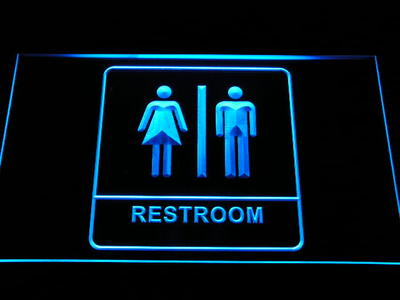 i1029 b Unisex Men Women Male Female Restroom Toilet Washroom LED Neon Light Sign
