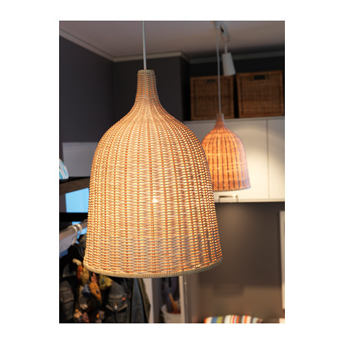 220v Pendant Lamp,rattan Each Handmade Shade Is Unique.-in