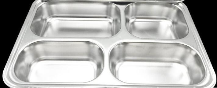 29*23CM Stainless Steel Lunch Plate Canteen Metal Dinner Plate Rectangle Restaurant Service Tray(China (Mainland))