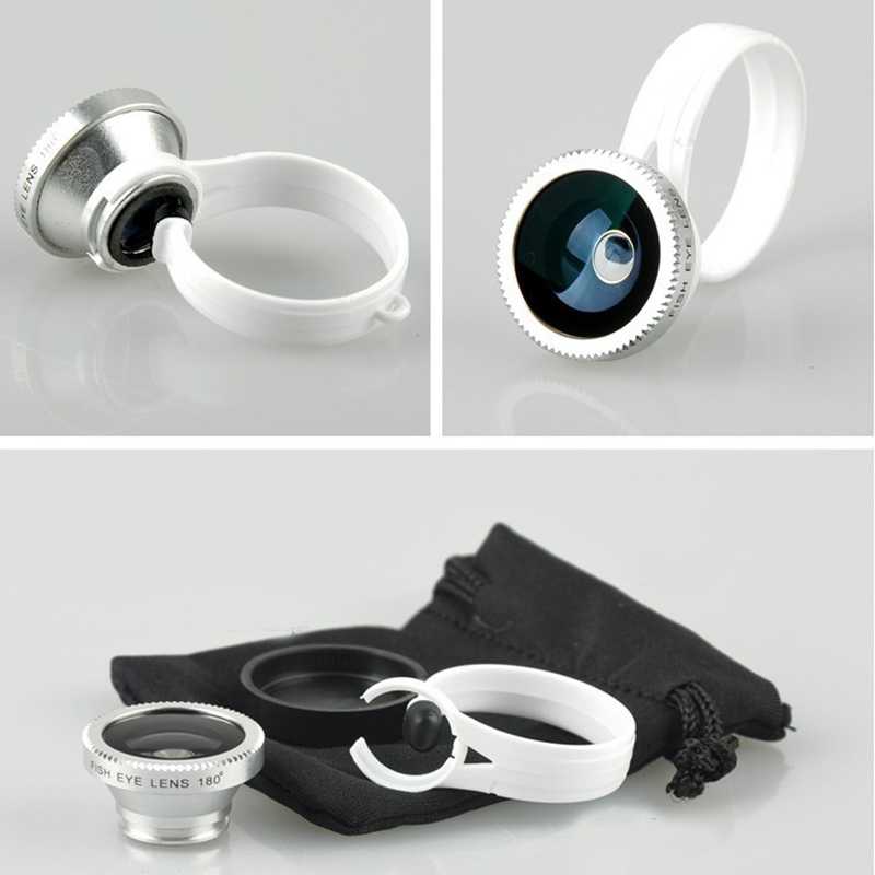Universal 180 Clip Fisheye Fish eye Camera Lens iphone 4S 5 5S 6 6S samsung galaxy S3 S4 S5 Circular shape phone camera