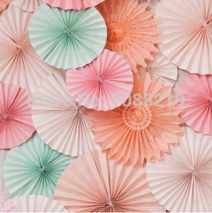 10pcs 8 Inches Multicolor Paper Fan Decoration Party Easter Kids Birthday Party Supplies 3 orders(China (Mainland))