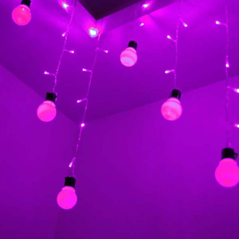 1.5x0.5 Outdoor Lighting 48 Beads Big Lamp Balls LED String Christmas Fairy Icicle Lights Garden Rope Patio Room Decor(China (Mainland))