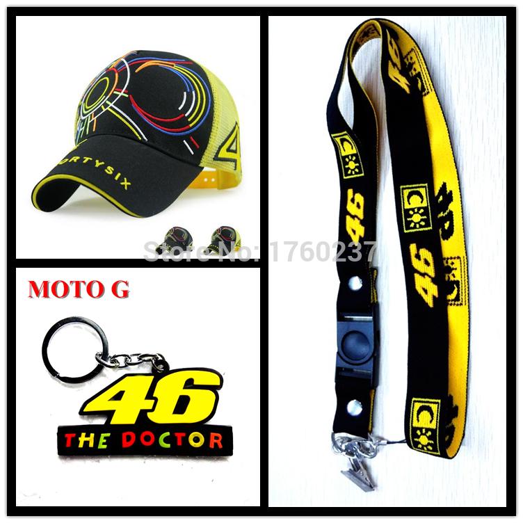Brand New 2015 MOTO GP Rossi VR 46 cap baseball cap Motorcycle Sport racing cap & phone lanyard & keyring(China (Mainland))