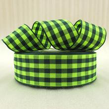 25Y42281 1 25mm green plaid font b scotish b font ribbon printed polyester ribbon 25 yards
