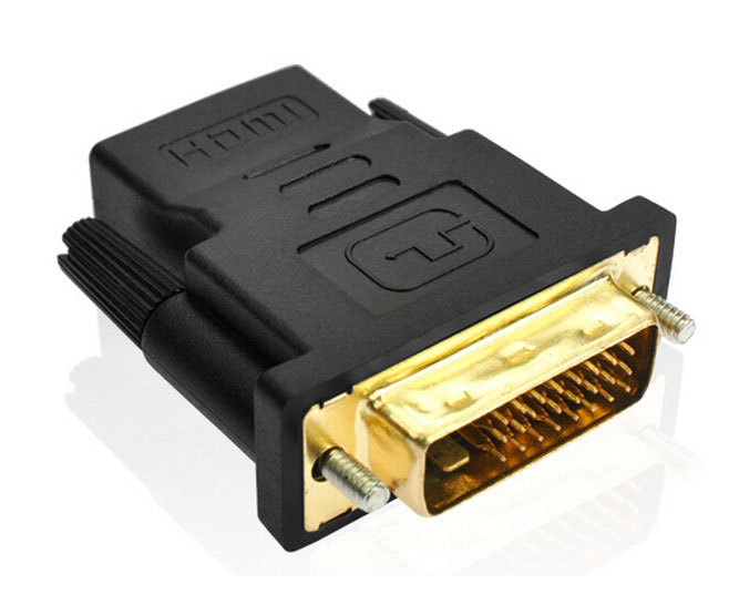 High quality DVI-D Dual link Male 24 + 1 to HDMI Female Adapter HDMI to DVI Gold Connector for HDTV 1Pcs/Lot(China (Mainland))