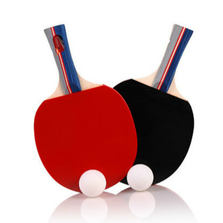 New 2 pieces set table tennis rackets ping pong paddle for Table tennis 6 0
