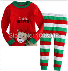 36sets cotton Long sleeve clothing set pajama sleepwear Homewear leisure wear suits girl boy baby kids children Christmas Gift(China (Mainland))