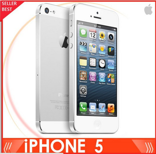 """Iphone 5 100% Factory Unlocked Apple Iphone 5 Cell phone 4.0""""16GB/32GB/64GB in Sealed box EMS DHL Free Ship(China (Mainland))"""