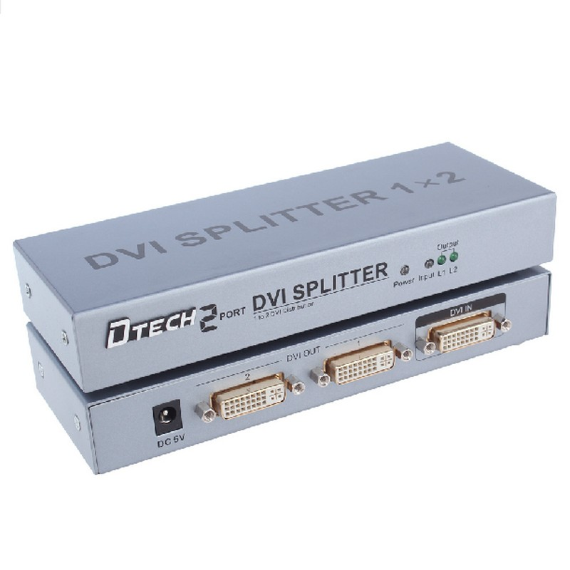 DT-7023 2 Port DVI Splitter 1 into the two high-definition video Distributor distributor DVI(China (Mainland))