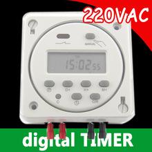 7 дн. progrmmable цифровой 220 В таймер с водонепроницаемая крышка бесплатная доставка с отслеживать нет