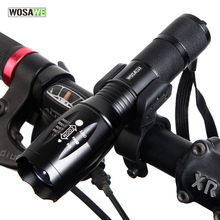 Buy WOSAWE Bicycle LED Flashlight w/ Clip Mount 5-Mode T6 Waterproof Bike lights Front Torch Support 18650 Battery bike Accessories for $6.66 in AliExpress store