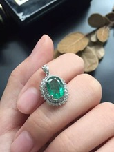 fine jewelry anniversary present 18k real gold natural Columbia origin 18k emerald ppendant whole size 13*20.5mm gold 3.05g(China (Mainland))