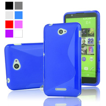 S Line TPU Silicone Rubber Soft Case For Sony Xperia E4 E2104 E2105 Back Skin Cover Cell Phone Protective Shockproof Bags