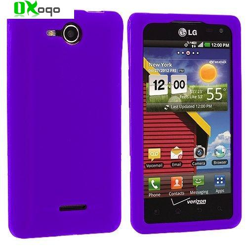 Oxoqo Purple Soft Silicone Protective Skin Case for LG Lucid 4G Cayman VS840(China (Mainland))