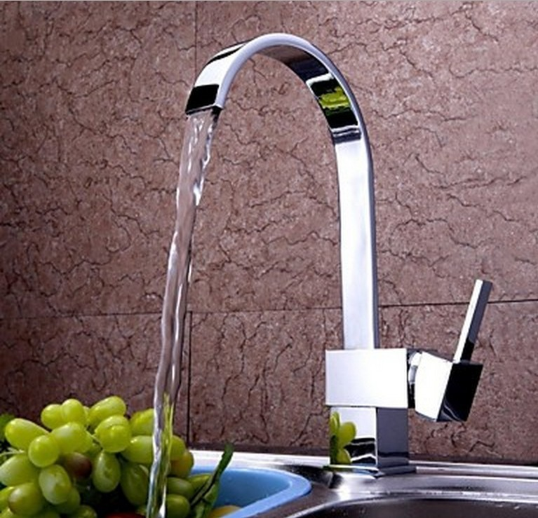 DS-8517B Contemporary Kitchen Sing Handle Sink Vessel Chrome Finished Swivel Mixer Tap Faucet<br><br>Aliexpress