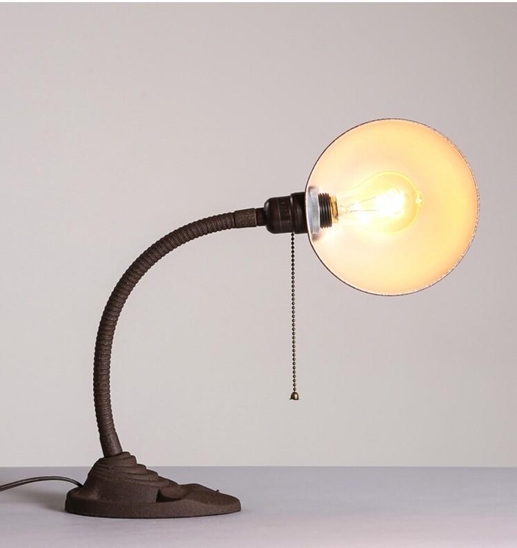 Купить Американский Промышленный Ретро Офис Исследование Спальня Прикроватные Творческий Железный Настольные Лампы Бесплатная Доставка