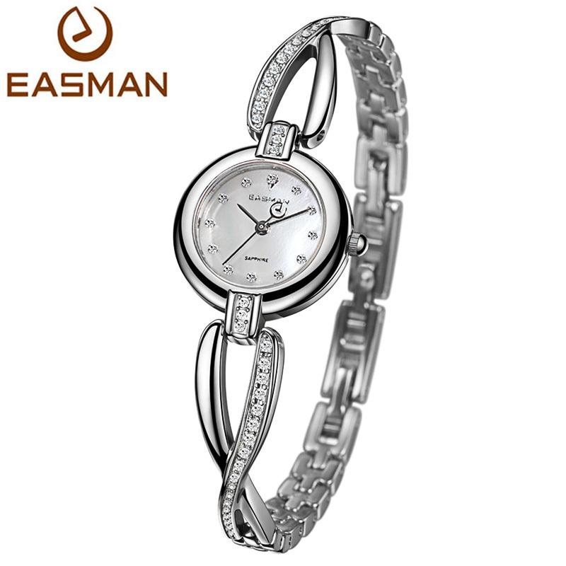 EASMAN Women Watch Crystal Cross Bracelet Natural Seashell Dial Quartz Watch Sapphire Glass Female Water Resistant Wrist watch<br><br>Aliexpress